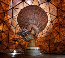 Abandoned Radio Antenna inside a Geodesic Dome shot shortly before its demolition Belgium Matt Emmett