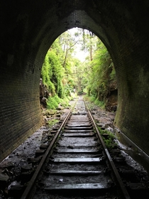 Abandoned rail tunnel Helensburgh NSW Australia