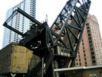 Abandoned Railroad Drawbridge Chicago Illinois USA  more in comments
