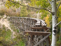Abandoned railroad trestle north of Cloudcroft New Mexico by Luke Jones