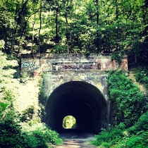 Abandoned railroad tunnel in southern Ohio