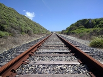 abandoned rails on the coast of california  oc