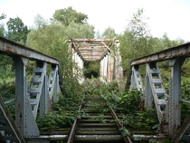 Abandoned railway bridge over Biaa Guchoaska