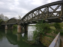 Abandoned railway bridge Oxford UK