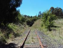 Abandoned railway in Central West NSW Australia
