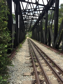 Abandoned railway track in Singapore