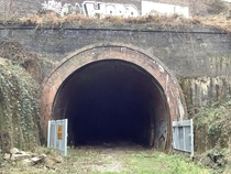 Abandoned railway tunnel in West Midlands England