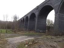 Abandoned railway viaduct near Wakefield Yorkshire England Album and info in the comments