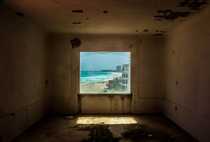 Abandoned Resort Beach view - Cancun Mexico