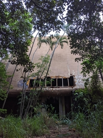 Abandoned restaurant in the Hawaiian rainforest