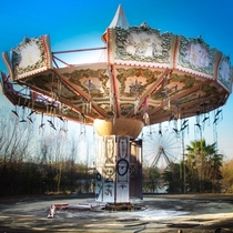 Abandoned ride at the New Orleans Six Flags following Hurricane Katrina