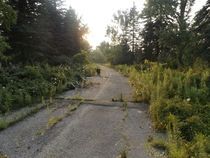 Abandoned road in Toronto Canada
