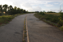Abandoned road leading to Six Flags Jazzland New Orleans
