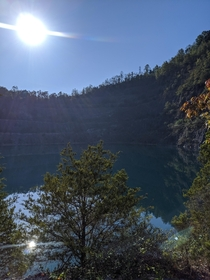 Abandoned Rock Quarry Has Transformed Into Beautiful Mountain Lake
