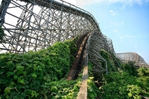 Abandoned roller coaster at Nara Dreamland in Japan