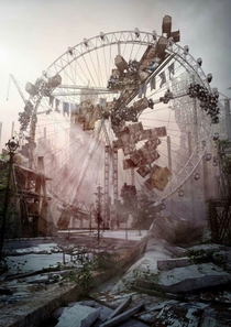 Abandoned roller coaster at Nara Dreamland in Japan X