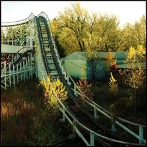 Abandoned roller coaster at what used to be Whalom Park MA