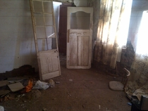 Abandoned Room in an abandoned home in Steynsburg South Africa