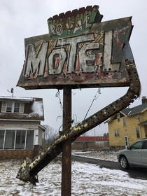 Abandoned Royal Motel Sign Route  North Syracuse NY