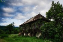 Abandoned rural house in Arge Romania