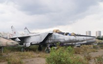 Abandoned Russian fighter plane in Moscow