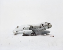 Abandoned Russian submarine in the snow