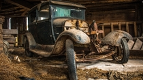 Abandoned Rusted  Ford Model T or A I cant tell Canada
