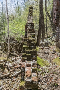 Abandoned s logging mill in the woods NH