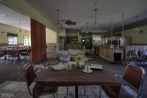Abandoned s Style Restaurant with Everything Left Behind