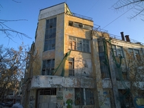 Abandoned sample of constructivist architecture of the late s in Ekaterinburg Russia The building is an object of cultural heritage