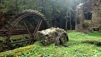 Abandoned saw mill in France
