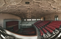 Abandoned school auditorium