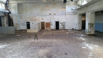 Abandoned school auditorium in North East Louisiana