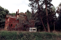 Abandoned school building in Brandenburg Germany - It burnt down in the late s