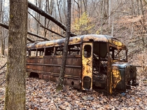 Abandoned school bus Rockhouse trail Hatfield McCoy trails WV