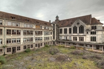 abandoned school in France by scruffybread