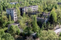 Abandoned school in Pripyat Ukraine
