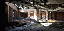 Abandoned school in Syracuse NY Closed in  there are no new plans for the site Image is of the front lobby