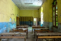 Abandoned school this is one of the classrooms
