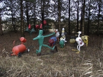 Abandoned sculptures