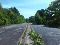 Abandoned section of PA route  in Centralia PA