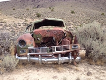 Abandoned sedan in the Humboldt Mountain Range in Nevada