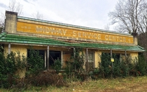 Abandoned service station Highway  Vance County North Carolina