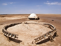 Abandoned set from Star Wars Episode I - The Phantom Menace in Tunisia