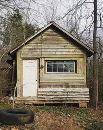 Abandoned sharecroppers cabin in Polk Co NC
