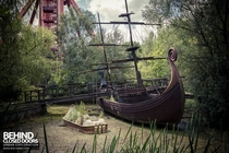 Abandoned Ship at a derelict theme park by Behind Closed Doors