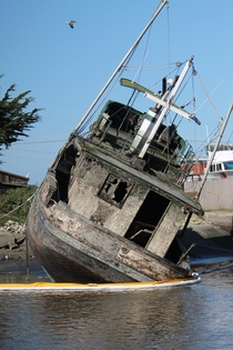 Abandoned Ship in Moss Landing CA