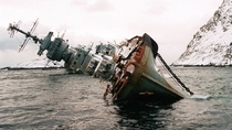Abandoned ship in Murmansk Russia