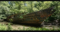 Abandoned ship in Northern Kentucky More pics in comments x