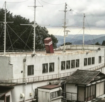 Abandoned Ship themed hotel on the Izu peninsula in Japan